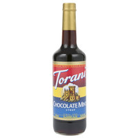 Torani 750 mL Chocolate Mint Flavoring Syrup