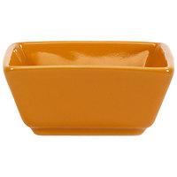 International Tableware EL-4-BN Elite Harvest 2.5 oz. Square Butternut Porcelain Ramekin - 36/Case