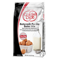 Golden Dipt 5 lb. Buttermilk Pre-Dip Batter Mix   - 6/Case