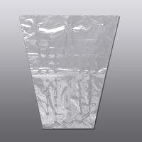 12 inch x 13 1/2 inch Clear Polyethylene Vented Grape Bag with Twist Ties - 1000/Case
