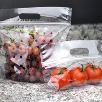 9 1/2 inch x 3 3/4 inch x 10 inch Clear Plastic Vented Zipper Seal Produce Pouch - 250/Case