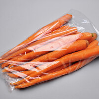 8 inch x 3 inch x 20 inch Clear Plastic Long Low Density Vented Produce Bag - 1000/Case