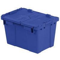 Orbis FP06 15 inch x 11 inch x 9 inch Stack-N-Nest Flipak Dark Blue Tote Box with Hinged Lockable Lid