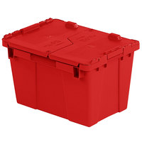 Orbis FP06 15 inch x 11 inch x 9 inch Stack-N-Nest Flipak Red Tote Box with Hinged Lockable Lid