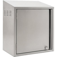 Eagle Group WCH-24C-LL 24 inch Type 300 Stainless Steel Chemical Storage Wall Cabinet with Key Lock - Left Hinged