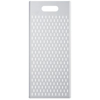 GI Metal AM-3070AF Azzurra 12 inch x 27 1/2 inch Anodized Aluminum Rectangular Perforated Pizza Board