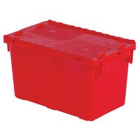 Orbis FP151 22 inch x 13 inch x 13 inch Stack-N-Nest Flipak Red Tote Box with Hinged Lockable Lid