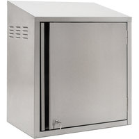 Eagle Group WCH4-24C-RL 24 inch Type 430 Stainless Steel Chemical Storage Wall Cabinet with Key Lock - Right Hinged
