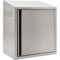 Eagle Group WCH4-24C-R 24 inch Type 430 Stainless Steel Chemical Storage Wall Cabinet - Right Hinged
