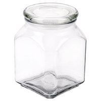Anchor Hocking 95886 1.6 qt. Glass Emma Jar with Glass Lid