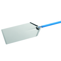 GI Metal AM-2340/150 Azzurra 9 inch x 16 inch Anodized Aluminum Rectangular Pizza Peel with 59 inch Handle