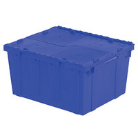 Orbis FP261 24 inch x 20 inch x 13 inch Stack-N-Nest Flipak Blue Tote Box with Hinged Lockable Lid