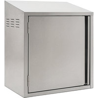 Eagle Group WCH4-24C-L 24 inch Type 430 Stainless Steel Chemical Storage Wall Cabinet - Left Hinged