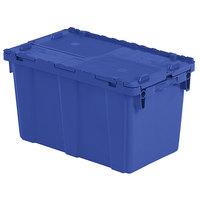 Orbis FP151 22 inch x 13 inch x 13 inch Stack-N-Nest Flipak Dark Blue Tote Box with Hinged Lockable Lid