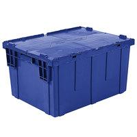 Orbis FP403 28 inch x 20 inch x 15 inch Stack-N-Nest Flipak Dark Blue Tote Box with Hinged Lockable Lid