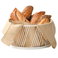 Cal-Mil 4114-10-15 Portland Large White Wire Basket - 10 1/2 inch x 5 1/2 inch