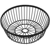 American Metalcraft WBBR80 Black Round Wire Basket - 8 inch x 2 3/4 inch