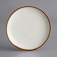 Acopa Keystone 6 inch Vanilla Bean Porcelain Coupe Plate - 4/Pack