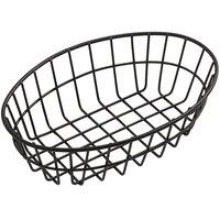 American Metalcraft GOVB69 Black Oblong Wire Basket - 6 inch x 2 1/2 inch