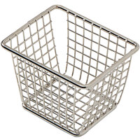 American Metalcraft FBSR43 4 1/8 inch x 3 3/8 inch x 3 inch Stainless Steel Rectangular Mini Fry Basket