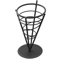 American Metalcraft FFB59 Black Wrought Iron Wire Fry Basket - 5 inch x 9 inch