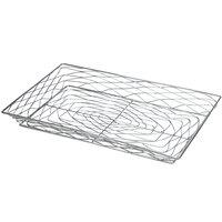 American Metalcraft BNBC20132 20 1/2 inch x 12 5/8 inch Chrome Wire Birdnest Bagel / Pastry Basket