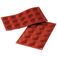 Silikomart SF014 SiliconFLEX 15 Compartment Tartelettes Silicone Baking Mold - 1 15/16 inch x 1 15/16 inch x 9/16 inch Cavities