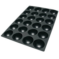 Silikomart SQ064 20 Compartment Half Spheres Silicone Baking Mold - 2 11/16 inch x 2 11/16 inch x 1 5/8 inch Cavities