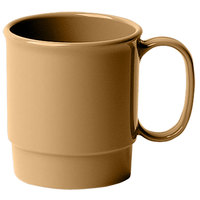 Cambro 75CW133 Beige Camwear 7.5 oz. Stacking Mug - Polycarbonate 48/Case