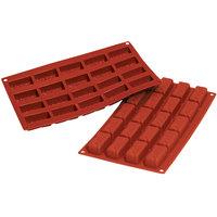 1 Each 1.37 x 1.37 x 0.84 High Silikomart Professional SF080 Silicone Baking Mold Square Savarin 0.54 Oz Volume 24 Cavities