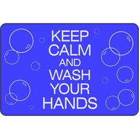 Notrax 194SCW46BU 194 4' x 6' Keep Calm and Wash Your Hands Floor Mat