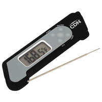 CDN TCT572-BK ProAccurate 4 1/4 inch Digital Folding Thermocouple Thermometer with Backlight