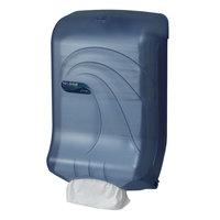 San Jamar T1790TBL Ultrafold Oceans Large Capacity C-Fold / Multi-Fold Towel Dispenser - Arctic Blue