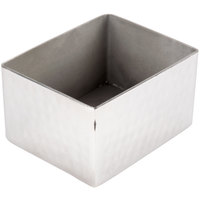 American Metalcraft HMSPH4 3 1/4 inch x 2 3/4 inch Hammered Stainless Steel Rectangular Sugar Caddy