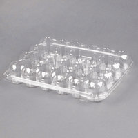 24 Compartment Clear Hinged Lid Mini Cupcake Container - 110/Case
