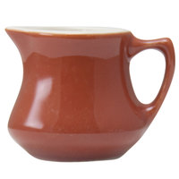 Hall China 30195W334 Paprika 3.5 oz. Empire Creamer 24 / Case