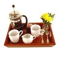 16 inch x 11 1/2 inch Wooden Coffee Butler Tray