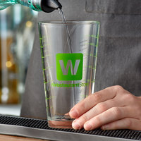16 oz. Mixing Glass / Pint Glass with WebstaurantStore Logo