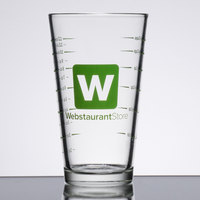 16 oz. Mixing Glass with WebstaurantStore Logo