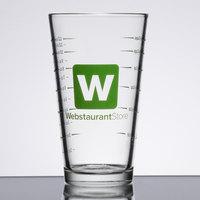 16 oz. Mixing Glass with WebstaurantStore Logo