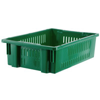 Orbis AF2013-6 Stack-N-Nest 20 inch x 13 inch x 5 5/8 inch Green Agricultural Vented Crate