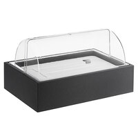 Vollrath Cubic Full Size Display Kit with Wooden Base, Roll Top Cover, and Cold Pack