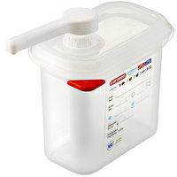 Araven 01362 1.5 Qt. Translucent Condiment Pump Dispenser with 1 oz. Pump and Airtight Lid