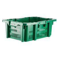 Orbis NPL654B Stack-N-Nest 23 15/16 inch x 16 inch x 8 13/16 inch Green Agricultural Vented Crate
