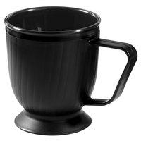 GET HCR-95-BK 8 oz. Black Insulated Mug with Pedestal Base - 12/Pack