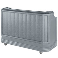 Cambro BAR730CP191 Granite Gray Cambar 73 inch Portable Bar with 7 Bottle Speed Rail and Cold Plate
