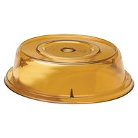 Cambro 9011CW153 Camwear Camcover 10 inch Amber Plate Cover - 12/Case