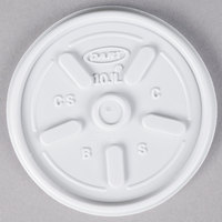 Dart 10JL White Vented Lid - 100/Pack