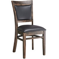 Lancaster Table & Seating Sofia Vintage Finish Upholstered Back Chair with Padded Seat