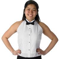 Henry Segal Women's Customizable White Halter Top Tuxedo Shirt with Wing Tip Collar - XS